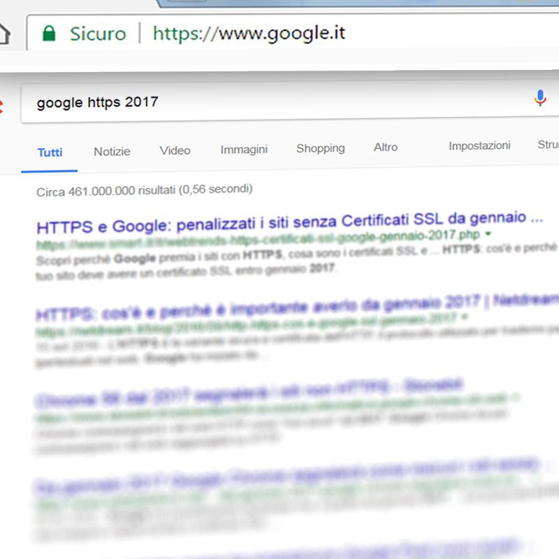 HTTPS e Google certificato SSL da gennaio 2017